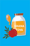 Click here for more information about Rosh Hashanah Print Card Design 1